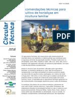 HORTAS-Recomendações Técnicas Em Hortaliças Agricultura Familiar-CT.47-Embrapa