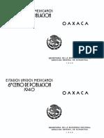 Censo de Población 1940 Oaxaca