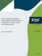 Cómo Cambiar Conductas Para Mejorar La Salud Materna y Neonatal en Zonas Rurales de América Latina (1)