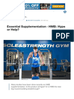 Essential Supplementation - HMB_ Hype or Help