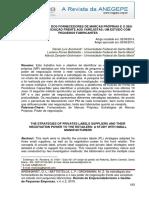 Arenhardt, Battistella, Grohmann 2015 as Estratégias Dos Fornecedores de Marcas Próprias e o Seu Poder de Negociação Frente Aos Varejistas Um Estudo Com Pequenos Fabricantes
