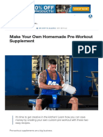 Make Your Own Homemade Pre-Workout Supplement