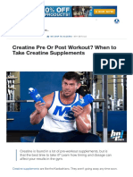 Should You Take Creatine Pre or Post Workout