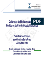 Calibração de Medidores de PH e Medidores de Condutividade