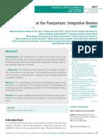 Nursing Assistance at the Puerperium, Integrative Review
