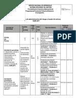 CRONOGRAMA DE ACTIVIDADES SENA