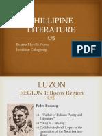 Philippine Literature in Different Regions