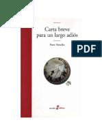 Handke Peter - Carta Breve Para Un Largo Adios