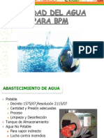 Calidad del agua  bpm