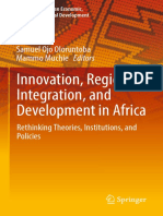 (Advances in African Economic, Social and Political Development) Samuel Ojo Oloruntoba, Mammo Muchie - Innovation, Regional Integration, And Development in Africa-Springer International Publishing (20 (1)