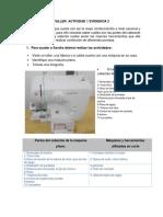 Funciones y partes de la maquina de coser