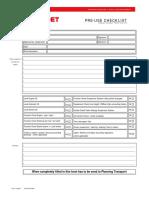 Modular Transport-PPU Pre-Use Checklist