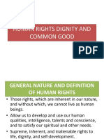 Human Rights Dignity and Common Good