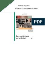 ARQUITECTURA DE LA CIUDAD DE ALDO ROSSI