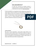 Qué Es Un Sensor Piezoeléctrico