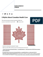 5 Myths About Canadian Health Care