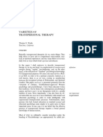 Varieties of Transpersonal Therapy