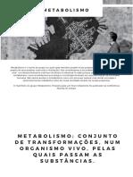 METABOLISMO - Arquitetura e urbanismo