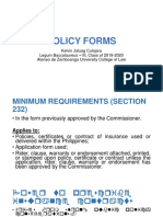 Policy Forms and Variable Contracts