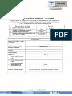 Solicitud de Registro de Importador y Exportador