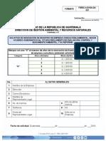 Solicitud de Renovación de Registro de Empresa Consultora Ambiental