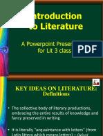1. Literature Intro