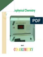 01 Colorimetry Spectrophometry