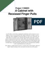 Wall Cabinet Finger Pulls