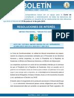 Boletín Corte de Costitucionalidas