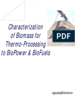 Characterization of Biomass 061130