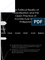 The Political Reality of Globalization and the Open Practice of Architecture in the Philippines