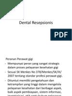 Dental Resepsionis