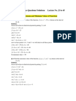 MTH101 Practice Qs Solutions Lectures 23 to 45