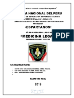 silabus de Medicina Legal- pnp