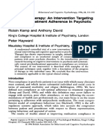 Research Paper about the Compliance in Psychotic Patients