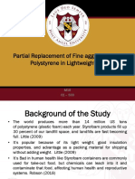 M10- Partial Replacement of Fine Aggregate Using Polystyrene in Lightweight CHB-CE-503