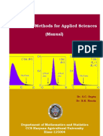 Statistical Book for Applied Sciences