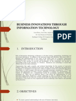 Business Innovations Through Information Technology