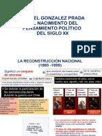 Tema 2. Manuel Gonzalez Prada y El Nacimiento Del Pensamiento Político Del Siglo XX.