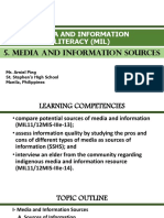 5 - Media and Information Sources