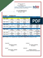 Class Program 2019 2020