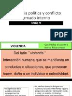 Tema 9. Violencia Política y Conflicto Armado Interno