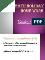 Math Holiday Home Work