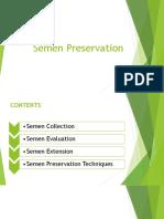 Lecture # 3. Semen Preservation