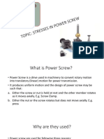 Stresses in Power Screw