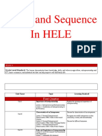 Scope and Sequence in HELE
