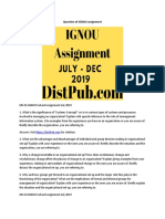 DistPub Provide Ignou Assignment-July-2019 Solution