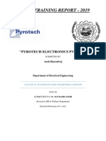 Summer Internship Training Report (Pyrotech Electronics Udaipur