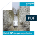 Utilisation du BNA Pro en arboriculture