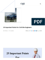 25 Important Points for Civil Site Engineers - Engineering Discoveries